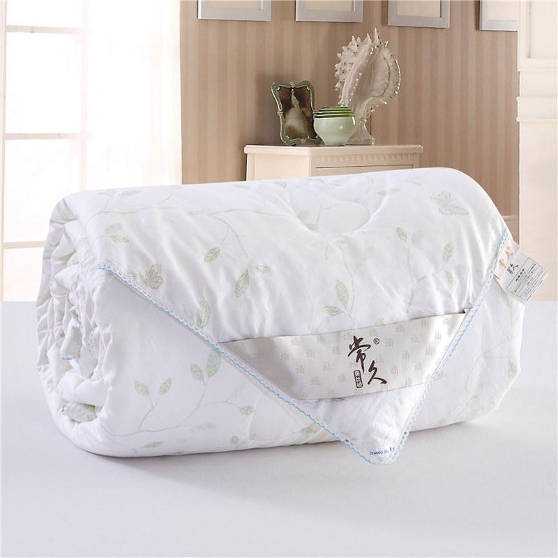 常久 全棉印花蚕丝被加厚冬被220*240cm 6斤 风雅·白色