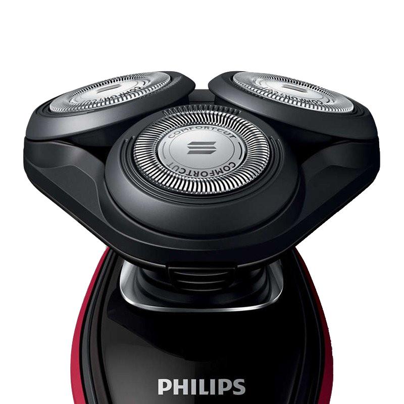 飞利浦(PHILIPS)剃须刀电动刮胡刀水洗胡须刀 亮红色S5095/58-配洁面刷·亮红色
