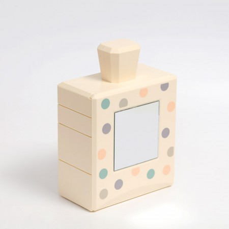 悦兔 多功能首饰收纳镜盒·波点