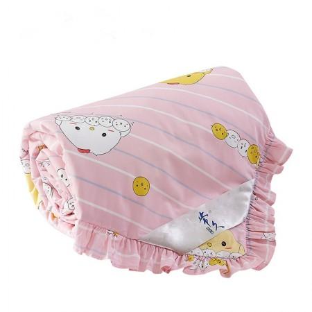 常久 全棉可拆洗儿童蚕丝被 120X150cm 2斤 萌咪宝贝