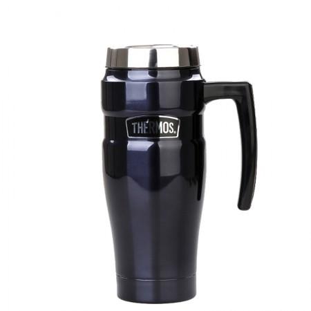 膳魔师(THERMOS)保温瓶不锈钢保温水壶带把手可车载真空热水瓶SK-1000