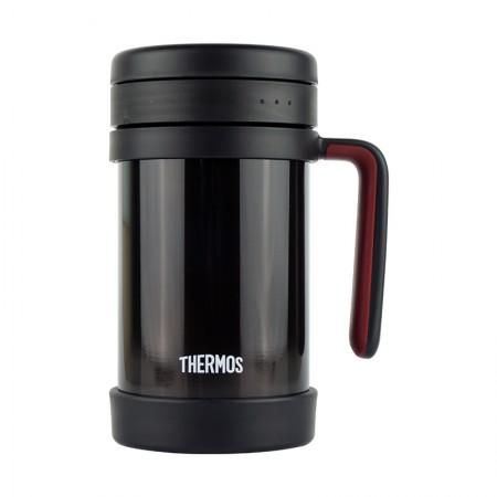 膳魔师(THERMOS) 保温杯办公室茶漏男女便携泡茶水杯TCMF-501黑色·