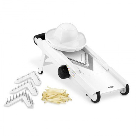 OXO 美国不锈钢多功能V形切片切丝机·白色