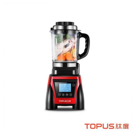 [高速碎骨快速破壁]钛度TOPUS智能加热破壁料理机家用养生机HB-K816·红色