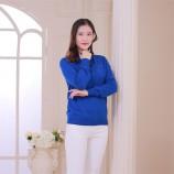 (恒源祥集团)彩羊高领烫钻修身羊毛衫·宝蓝