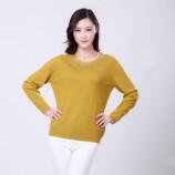 (恒源祥集团)彩羊花口领羊毛衫·黄色