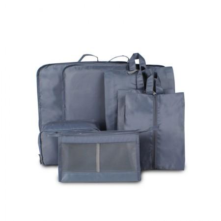 吉优百 出游行李箱整理包轻便旅行收纳袋·7件组·深灰色