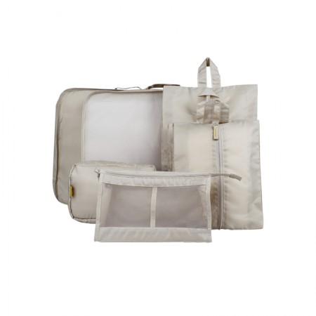吉优百 出游行李箱整理包轻便旅行收纳袋·7件组·卡其色