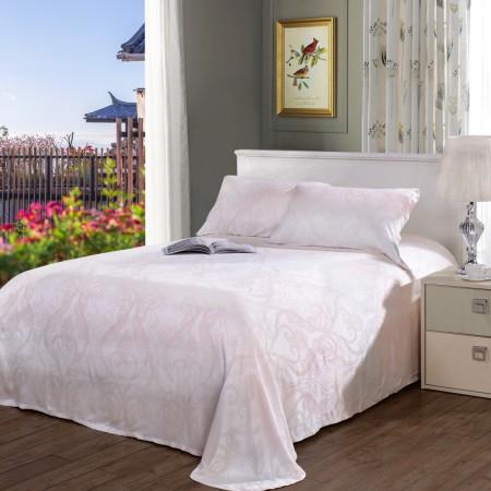 富安娜 床单式提花席·三件套·粉