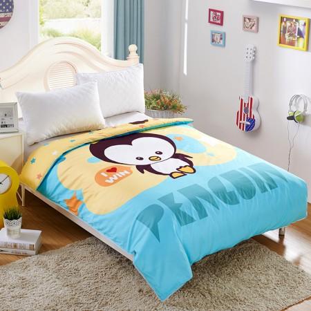 常久 全棉可拆洗儿童蚕丝被 150*200cm3斤 王者企鹅