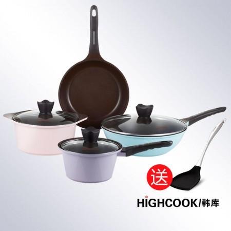 HIGHCOOK韩库 马卡龙系列套锅·马卡龙色