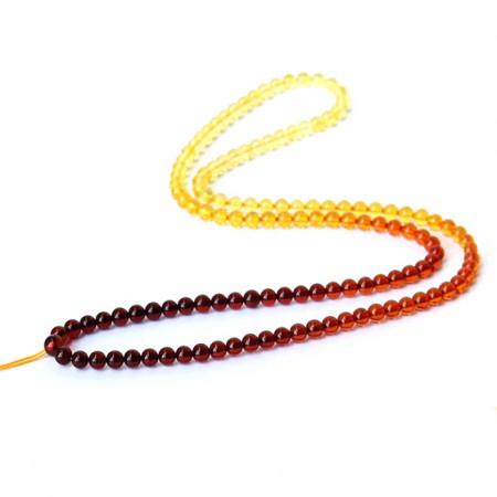 满记琥珀彩虹渐变项链挂绳配链长链可调节