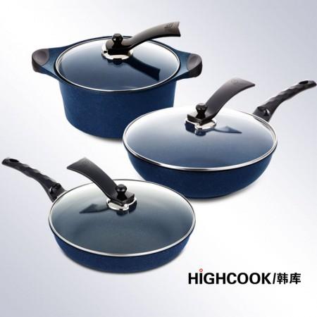HIGHCOOK韩库 蓝宝石炒煎汤全系·蓝色