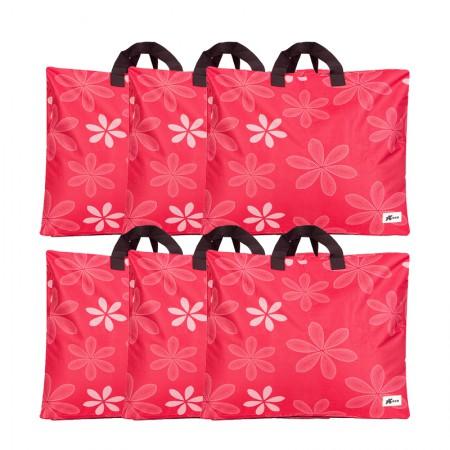 吉优百 可水洗牛津布棉被衣物收纳袋大号*3+特大号*3·6件组·红色