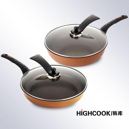 韩库 韩国进口3D黄金炒煎经典套组·巧克力色