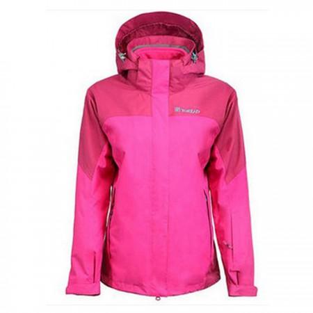 探路者旅行生活三合一冲锋衣防风防雨套绒两件套92422蔷薇红·蔷薇红