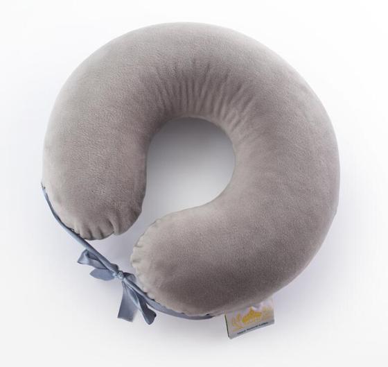泰嗨泰国整只原装进口天然乳胶U型枕·紫色
