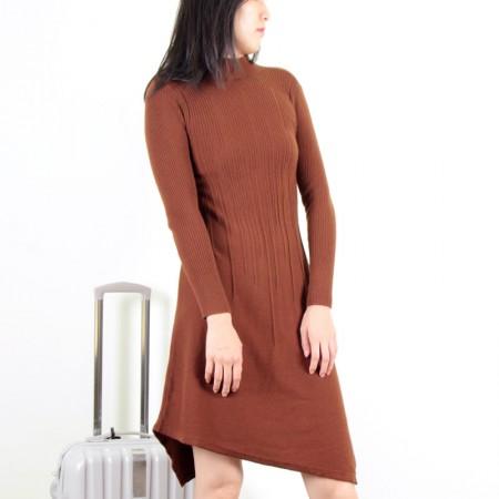 SSYAOGE 羊毛不规则修身羊毛衫7226·焦糖色