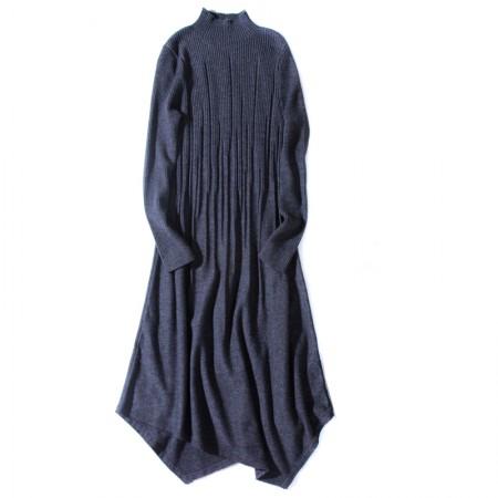 SSYAOGE 羊毛不规则修身羊毛衫7226·灰色