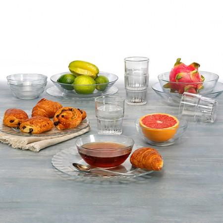 DURALEX多莱斯 法国进口玻璃餐具套装·14件套装