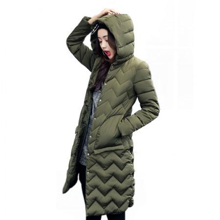 SSYAOGE 中长款大口袋韩版女装棉服822·军绿