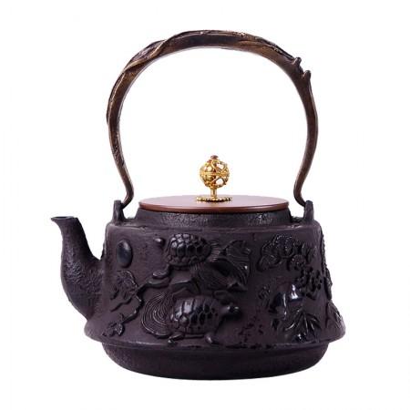 老冯记正品新款龟鹤老铁壶日本南部铸铁壶