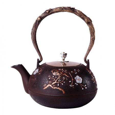 老冯记正品喜上眉梢铁壶日本南部铸铁壶