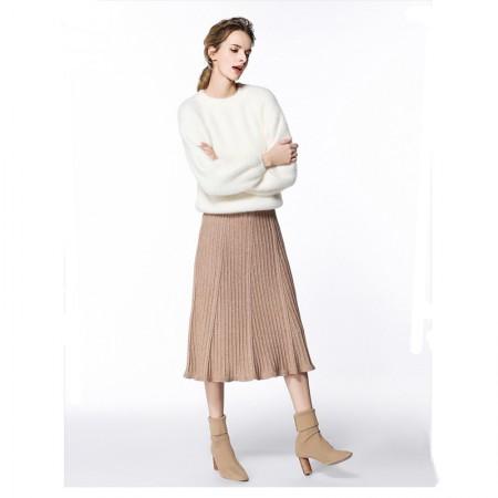 时尚百褶鱼尾针织裙·黑色
