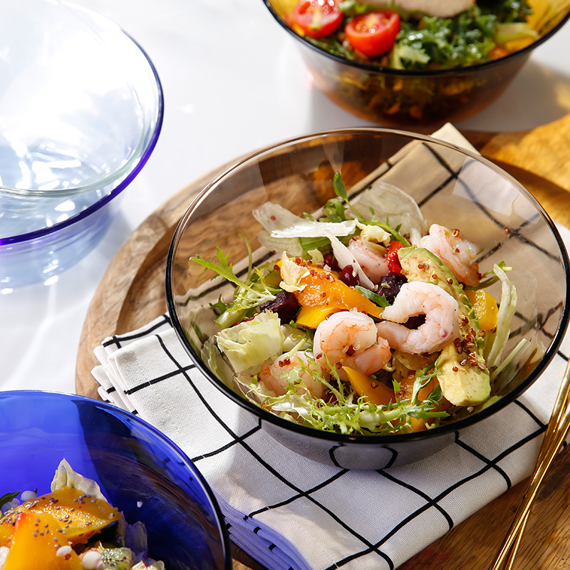 DURALEX多莱斯 法国进口餐具套装大沙拉碗两只装 琥珀色