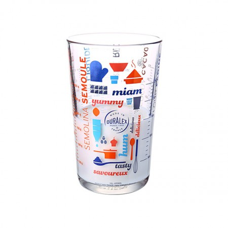 DURALEX多莱斯 进口玻璃杯量杯儿童牛奶杯六种刻度烘焙工具 5005A