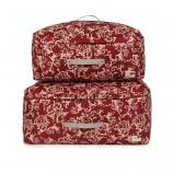 吉优百 可洗软态棉被收纳袋(大号2+加大号2)·4件组·红色鱼尾叶