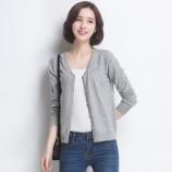 丁摩 新款兔绒V领羊毛衫0214·灰色