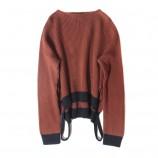 SSYAOGE 羊毛圆领宽松羊毛衫0187·焦糖色