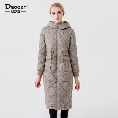 迪欧达 女士长款家居鹅绒服·卡其
