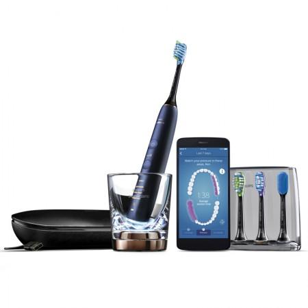 飞利浦(PHILIPS)电动牙刷HX9954/52 钻石亮白智能型 充电式成人声