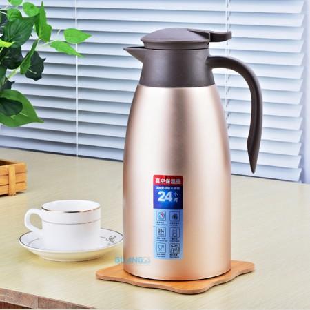 [JM]304不锈钢真空大容量保温壶热水壶2L·玫瑰金