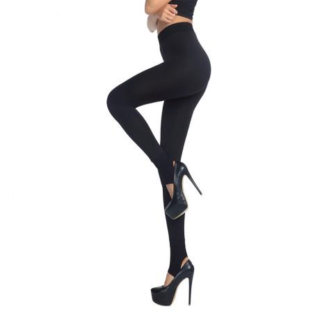 皮尔卡丹加厚可外穿2500D无缝特厚本色竹炭纤维双层保暖裤·黑色