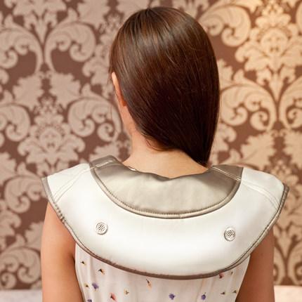 泰昌(Taicn)TC-Q005 捶打按摩披肩 腰部颈椎按摩器 颈肩乐捶背器·浅灰色