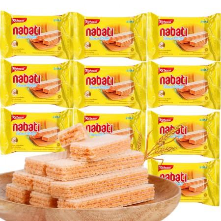 印尼进口 丽芝士纳宝帝奶酪威化饼干58g*10·奶酪威化饼干