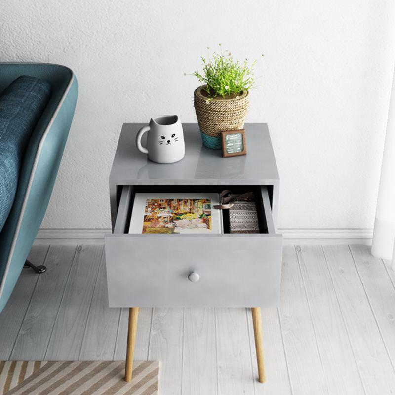 慧乐家艾克妮带抽边桌(灰色)11362-1·灰色