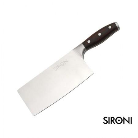 意大利SIRONI不锈钢菜刀 厨房家用斩切两用刀 切片切肉厨刀蔬菜料理刀具
