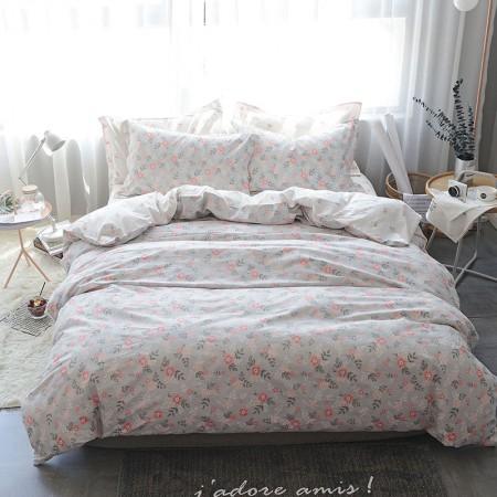 莱薇 美式精梳棉全棉印花四件套5尺床(花语花梦)·花语花梦