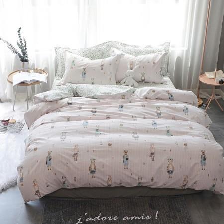 莱薇 美式精梳棉全棉印花四件套5尺床(梦想阳光)·梦想阳光