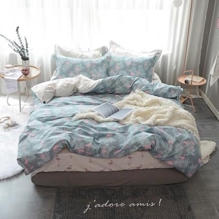 莱薇 美式精梳棉全棉印花四件套5尺床(最爱)·最爱