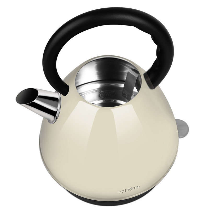 nathome/北欧欧慕 家用304不锈钢电热水壶自动断电2L容量·嫣红