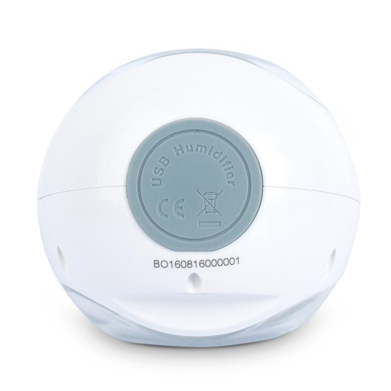 nathome/北欧欧慕 家用加湿器迷你USB香薰LED灯办公室静音·天使白
