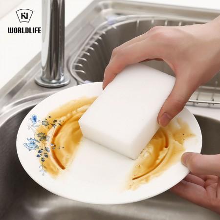 日本和匠 魔力海绵擦洗碗清洁海绵 10个装·白色