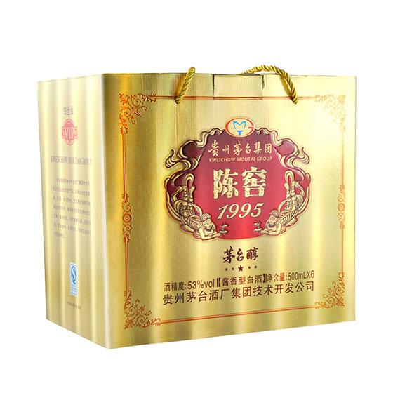 贵州茅台集团 陈窖1995茅台醇53度酱香型白酒·500ml*6