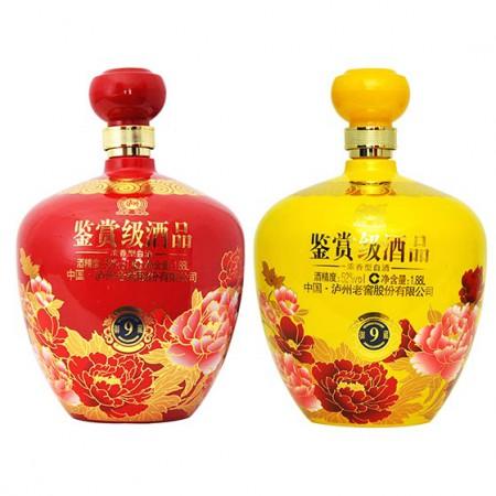 泸州老窖 鉴赏级酒品9御藏红黄套组 52°浓香型白酒·1.88L*2
