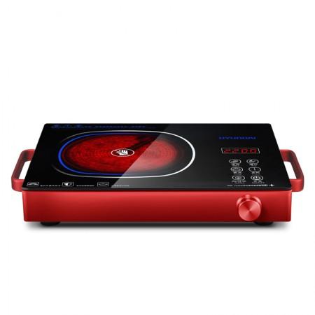 韩国现代(HYUNDAI)家用电陶炉QC-DT22G赠送烤盘·中国红